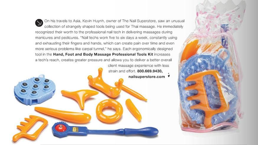 NAILPRO Magazine Features Our Massage Tools!