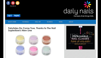 Daily Nails Features Our New Color Acrylic Powders!