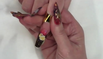 Artisan Color Acrylic Flower Nail Art