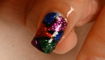 Gel Nail Ideas: Mosaic Art