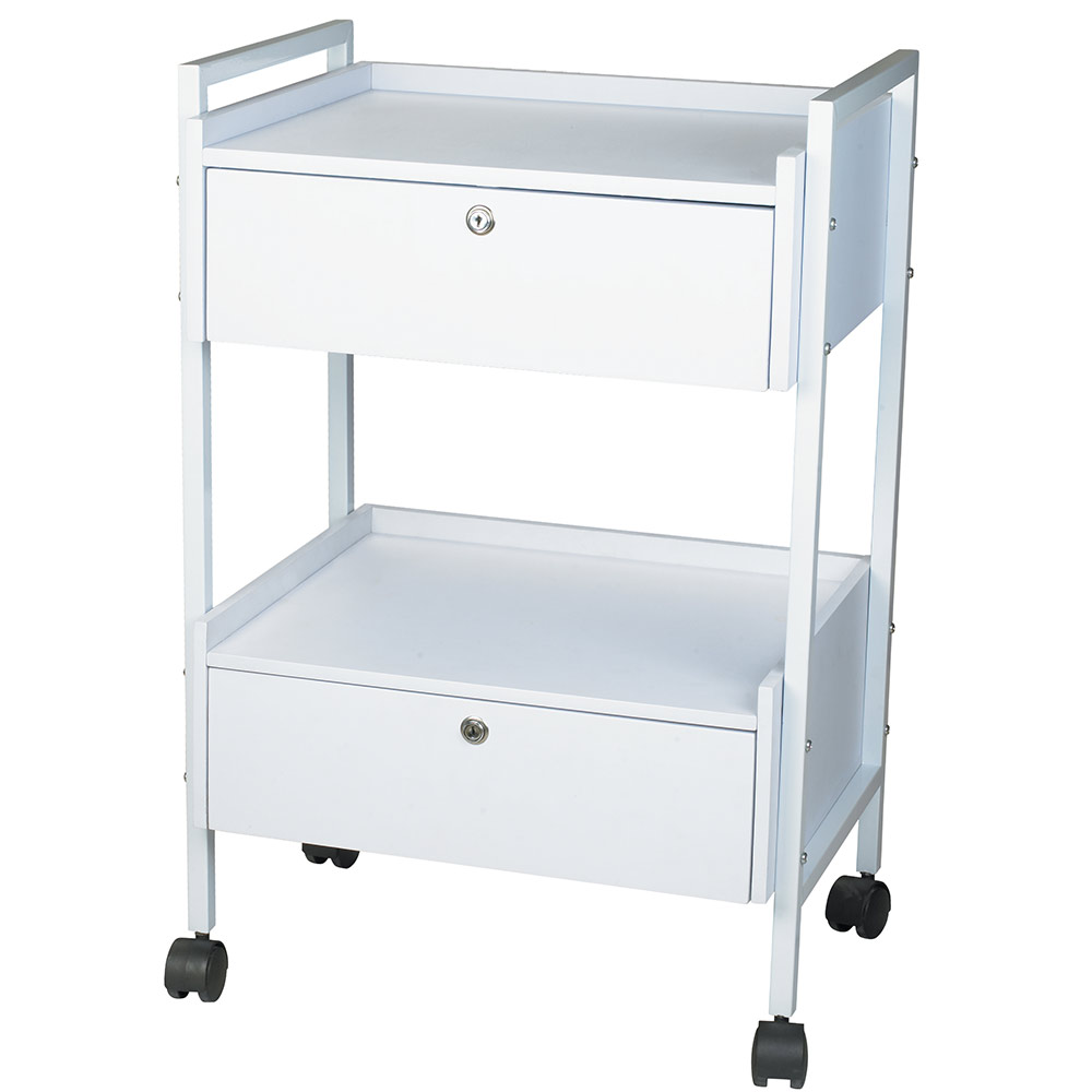 Silver Spa Mobile Beauty Trolley Cart For Spas Salons