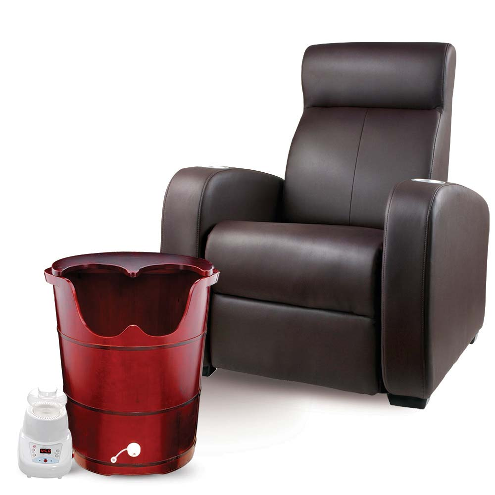 red dragon steam sauna pedicure spa with motorized leather recliner chair set the ultimate spa