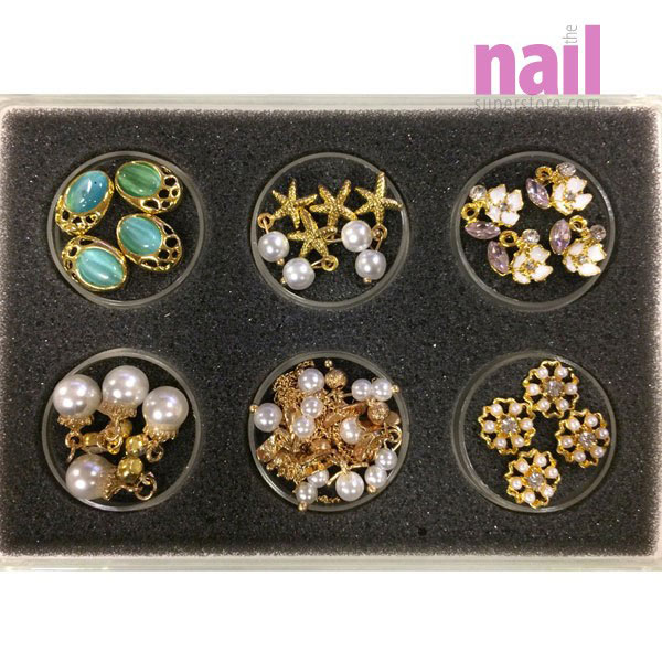 3D Nail Jewelry for Nail Art Designs   Gold #1