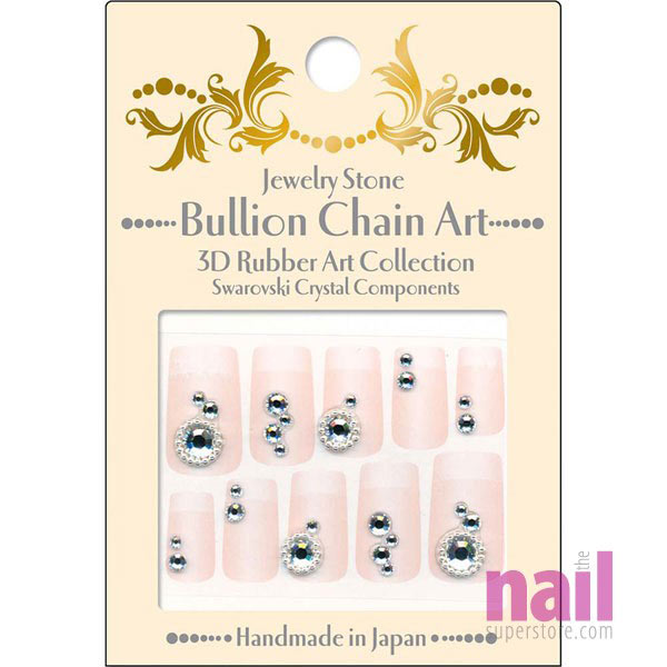 Japanese 3D Nail Art Stickers | Swarovski - Crystal Graceful Beauty ...