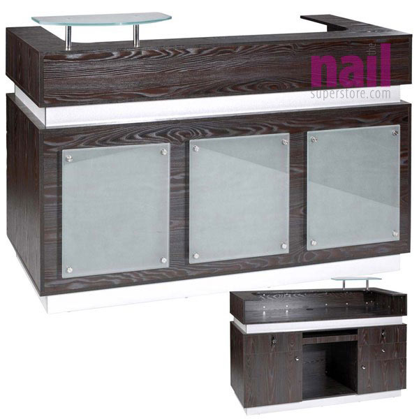 EuroStyle Salon Reception Desk | Rich Dark Ebony Color – Model MKG-867