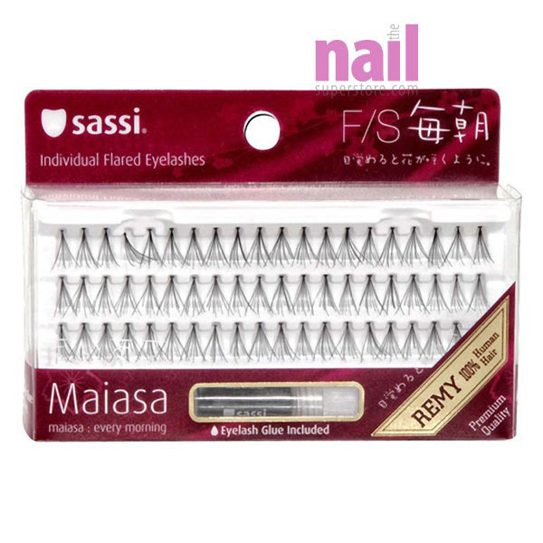Sassi Individual Eyelashes Fs With Glue Premium Quality 100