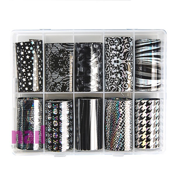 Abstract Transfer Foil Nail Art | Pack #4