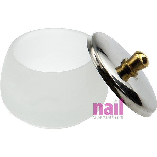 Acrylic Nail Liquid Dappen Dish | Frosted Glass