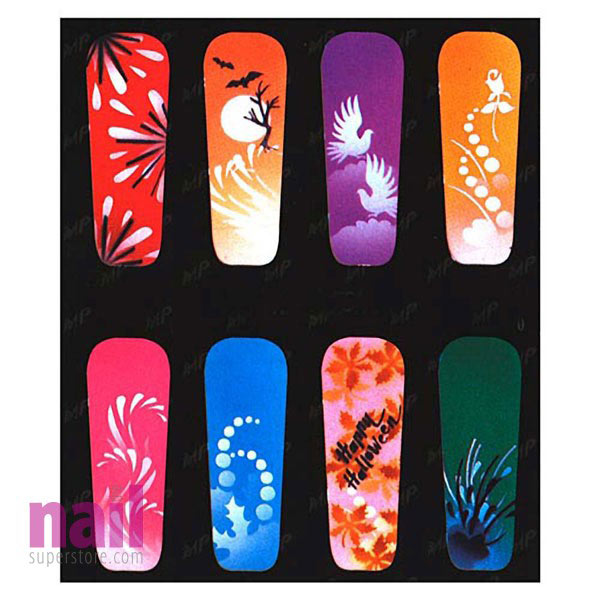 Airbrush Nail Art Stencil | American Series - #08 - The Nail ...