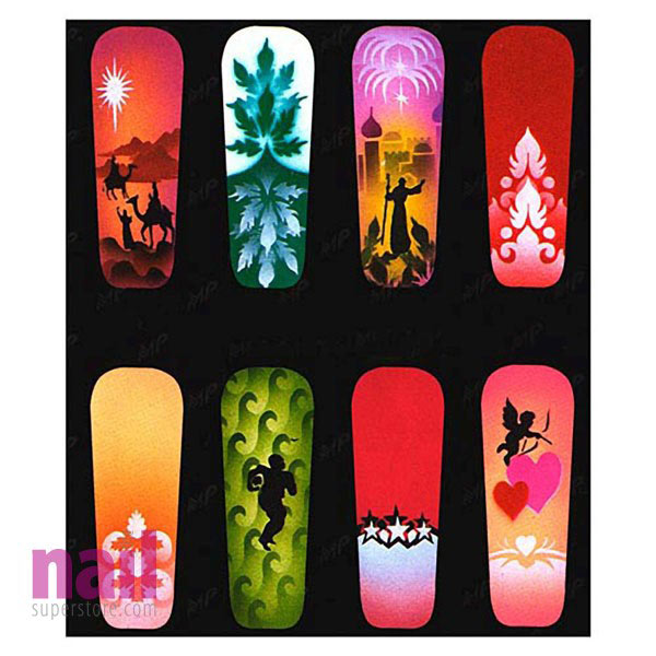 Airbrush Nail Art Stencil | American Series - #16 - The Nail ...