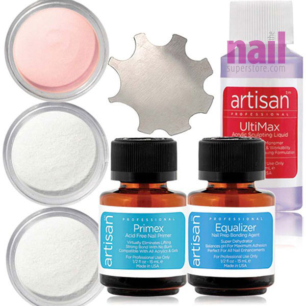 professional acrylic nail starter kit. artisan professional acrylic nail kit | easy to use - superior adhesion 7 pcs starter y