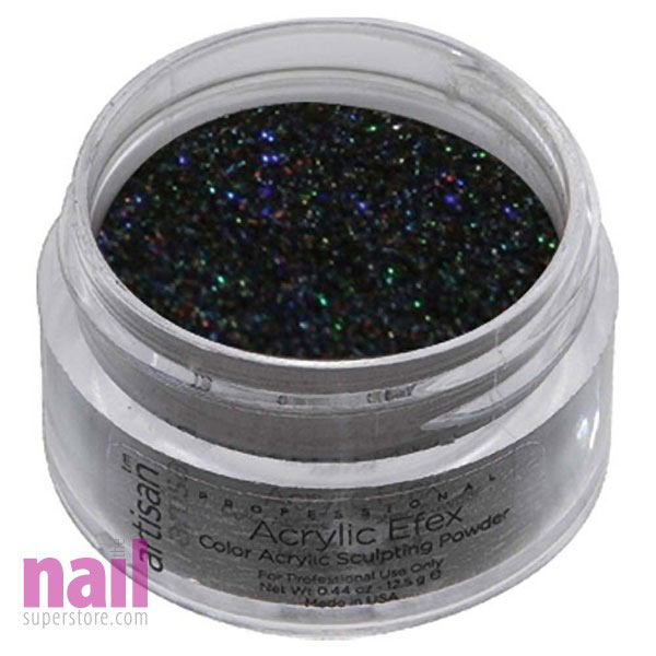 Artisan Colored Acrylic Nail Powder | Holographic Black