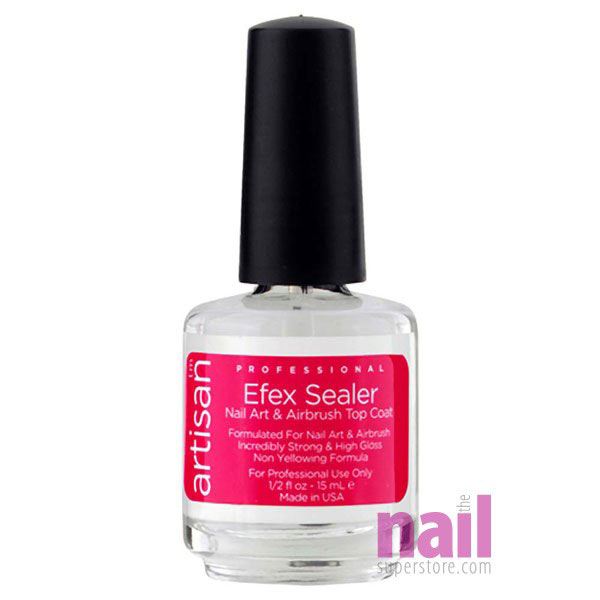 Artisan Efex Sealer Nail Art & Airbrush Top Coat | No Chip - No Yellow