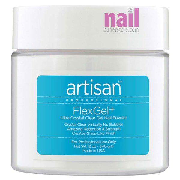 Artisan FlexGel+ Crystal Clear Gel Nail Powder | Superior Clarity