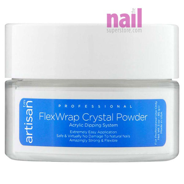 Artisan FlexWrap Crystal Clear Acrylic Dipping Powder | Bubble Free & Non Yellowing Formula