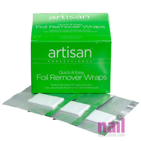 Artisan Nail Foil Remover Wraps | Thicker - Bigger - Stronger Absorbent