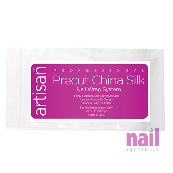Artisan Nail Wrap Precut China Silk | Extra Strong Natural Silk Fibers