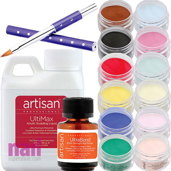 Artisan Acrylic Nail Kit | 15 pcs Best Selling Color Powders
