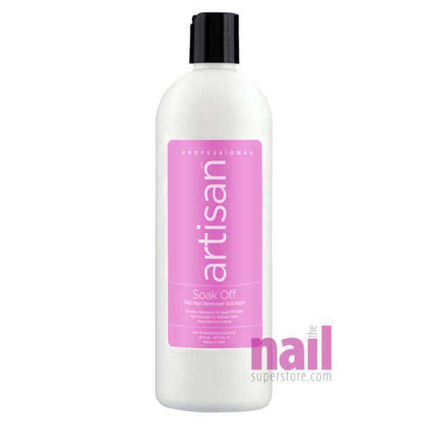 Artisan Soak Off Gel Nail Remover Solution | Quickly Removes & Soaks Off