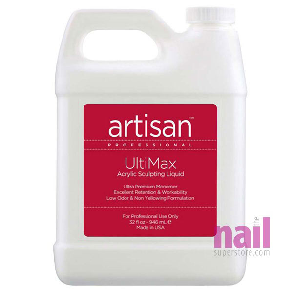 Artisan UltiMax Acrylic Nail Liquid | Quicker Setting - No Crystallization