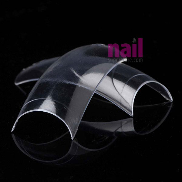 Crystal Clear Nail Tips | Perfect for Gel Nails - 3D Nail Art - Size #4