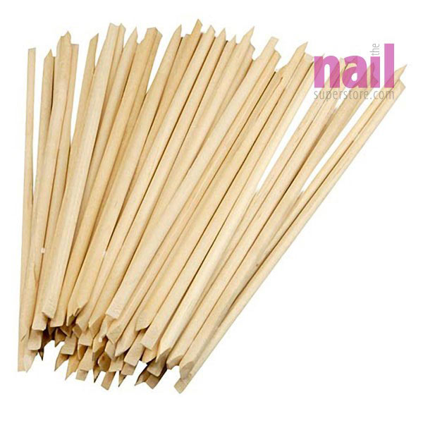 Orange Wood Sticks | Multi Use - Cuticle Pusher - Clean Under Nails