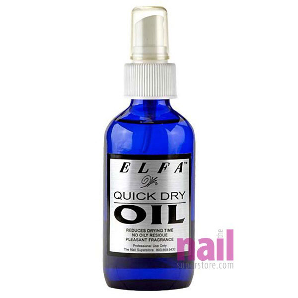 Elfa Quick Dry Oil For Nail Polish | Prevent Smudges & Dents