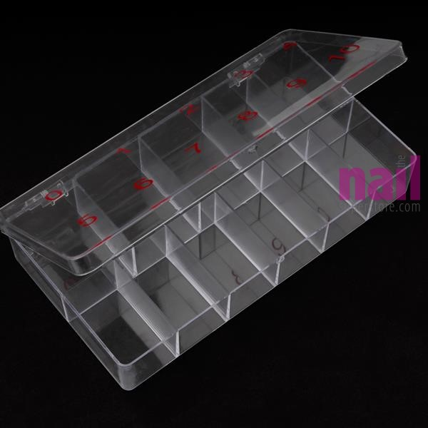 Empty Nail Tip Box Container | Pre-Numbered #0 - #10