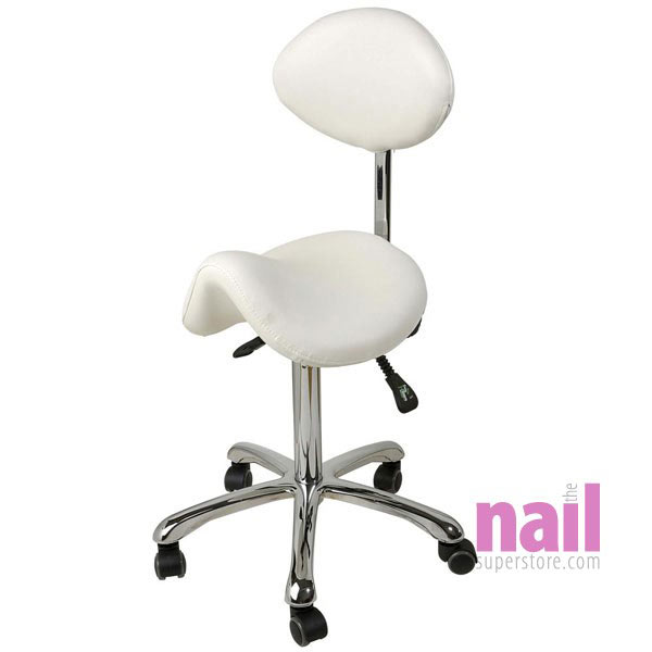 Eurostyle Saddle Chair For Nail Technician Clearance Ultimate Ergonomic White