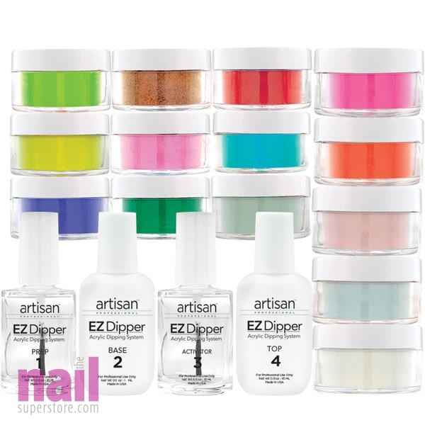 Artisan EZ Dipper Nail Color Dipping Powder System 19 pcs | Mosaic Kit