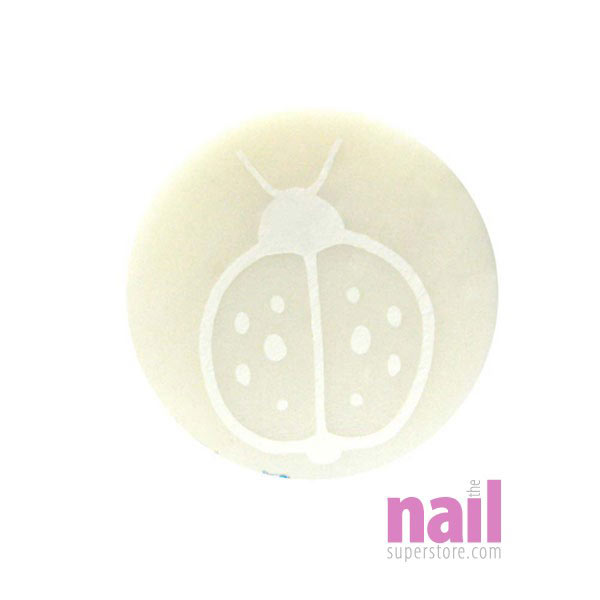 Fimo Polymer Clay Cane Nail Art | MC -  White Ladybug