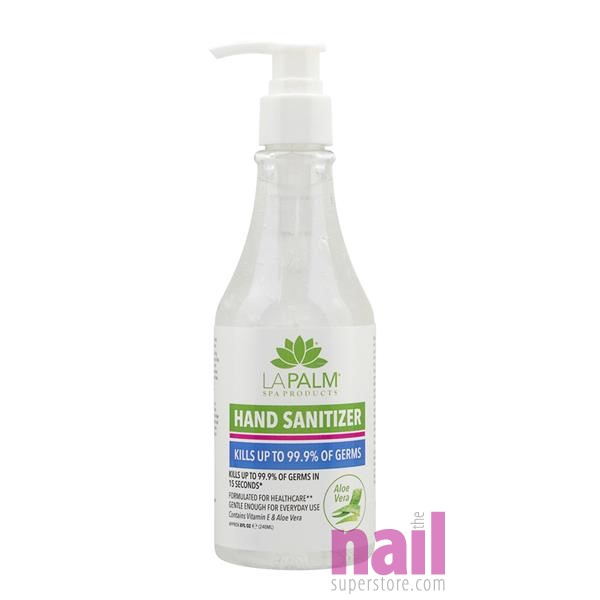 LaPalm Hand Sanitizer Gel with Vitamin E and Aloe Vera | Kills 99.9% Germs Without Irritating Skin