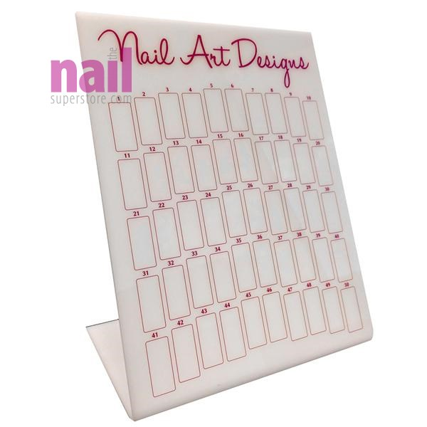 Nail Art Design Display | Clear Acrylic - Display 50 Designs
