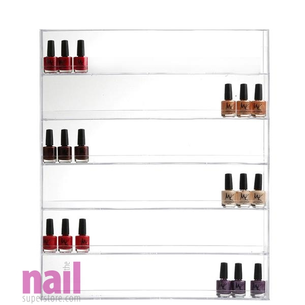 Nail Polish Rack | Wall Mount Design - Hold Up to 96 Bottles