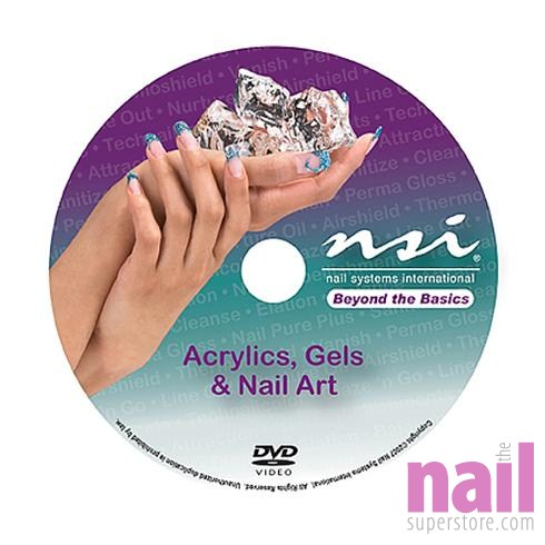 Instruction  on Beyond The Basics  Acrylics  Gels   Nail Art Instructional Dvd   Each
