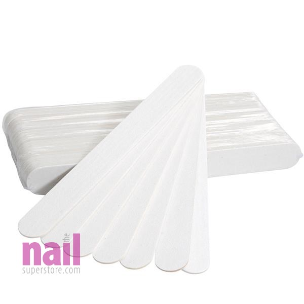 Professional Manicure Nail Files 100 ct | Emery Boards - White Abrasive