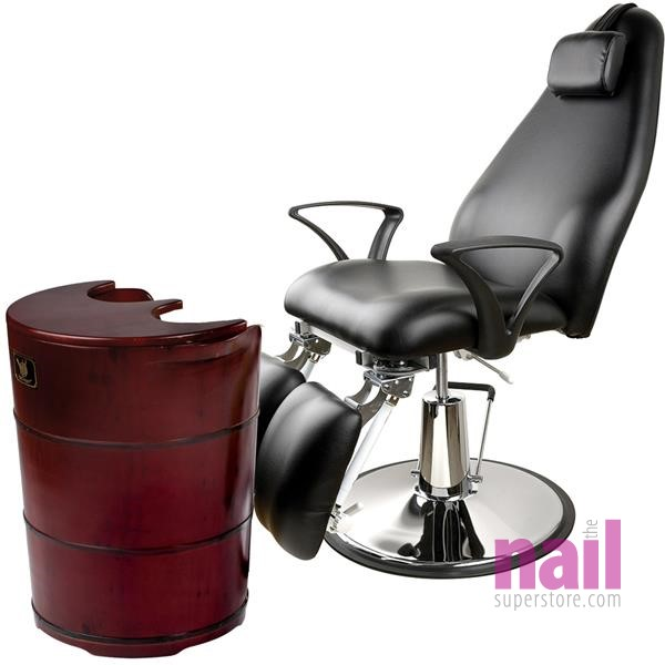 Red Dragon Steam Sauna Pedicure Spa with EuroStyle Hydraulic Beauty Chair | The Ultimate Spa Experience - 110V or 220V available