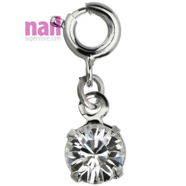 Japanese Nail Jewelry | Dangling Charm with Loop Lock - Silver ...