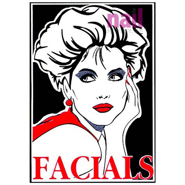 Salon Window Decoration Decal - Facials - 36
