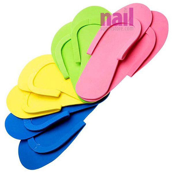 Foam Pedicure Slippers Sewed Strap | Soft, Comfy & Reusable