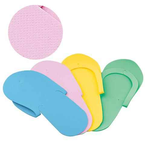 Non-Skid Spa Pedicure Slippers | Flip-Flops – Sewed Strap – Assorted Colors