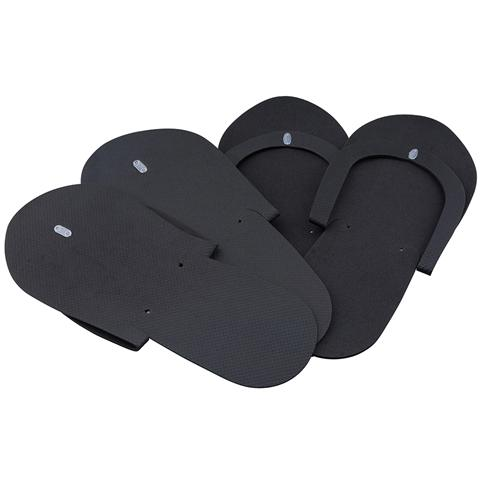 Non-Skid Spa Pedicure Slippers 240 pairs | Flip-Flops – Sewed Strap – Black