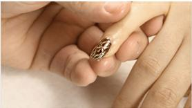Gold and Brown Special Effect Nail Art