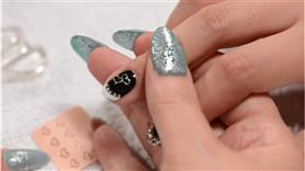 Japanese Double Heart Charm Nail Art Jewelry Design