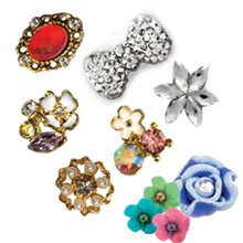 3D Nail Jewelry for Nail Art Designs