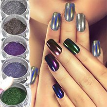 Mirror Chrome Nail Powder | Pigment for Brilliant Shine Effect