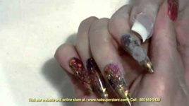 How To Do French Pink & White Gel Nails - Using Artisan Builder Gel Products Part 5