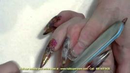 How To Do French Pink & White Gel Nails - Using Artisan Builder Gel Products Part 3