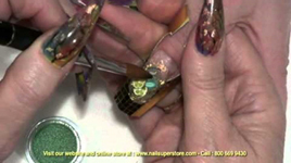 Artisan Color Acrylic Nail Powder - Mylar Nail Art Part 5