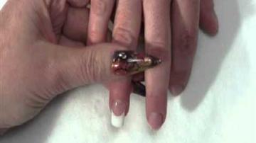 Artisan FlexWrap Acrylic Nail Powder - French Tip Nail Dipping Application Tutorial Part 4